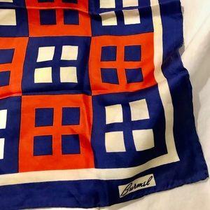 Burmel Accessories - Burmel Orange & Blue Silk Scarf